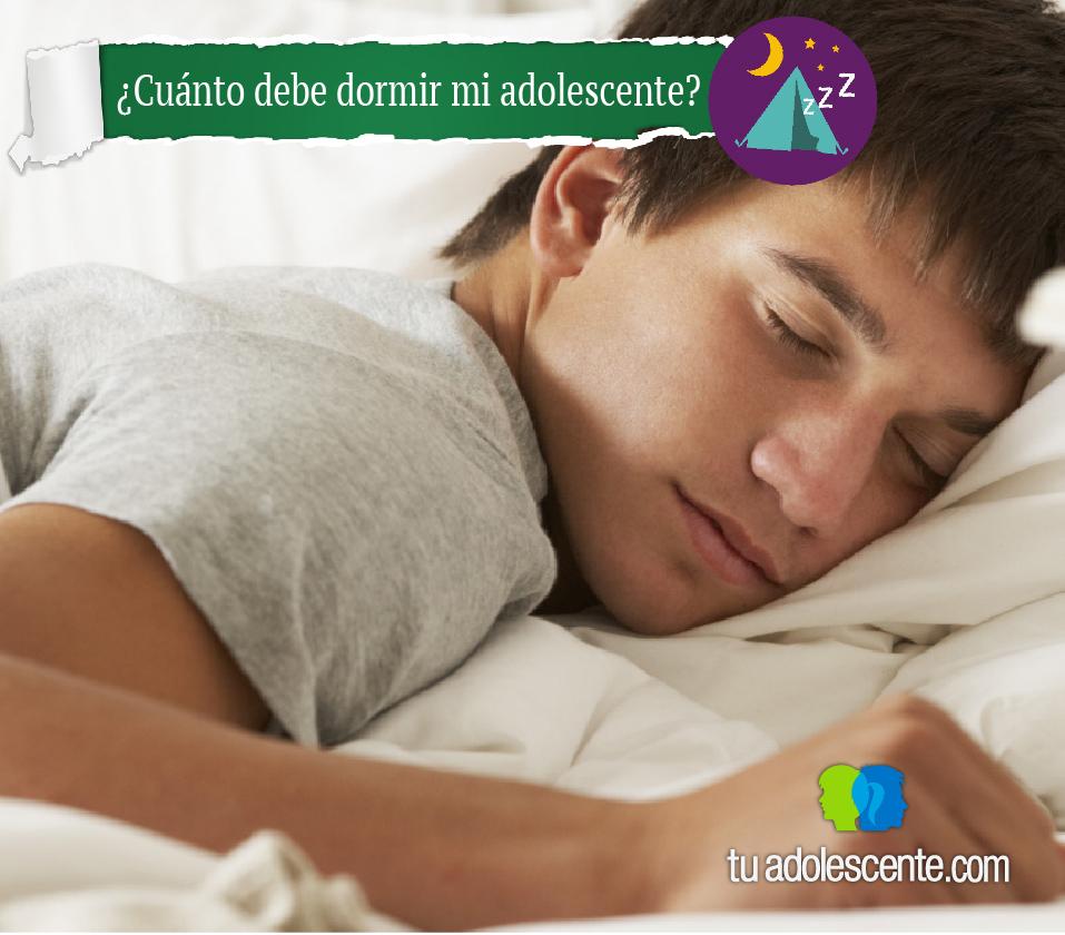 ¿cuánto debe dormir un adolescente?