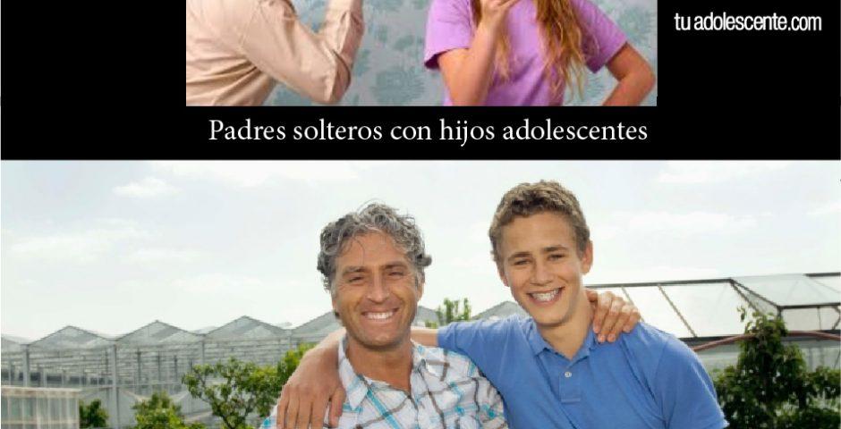Padres solteros con hijos adolescentes