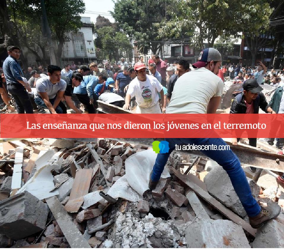 Las enseñanza que nos dieron los jóvenes en el terremoto